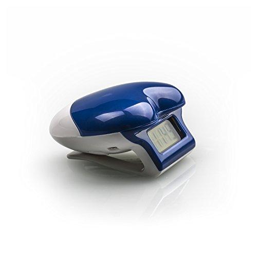 Incutex Schrittzähler in Herzform, Pedometer, Stepcounter, Schrittmesser, Entfernungsmesser, Farbe: Blau