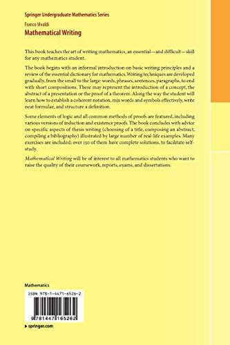 Zoom IMG-2 mathematical writing