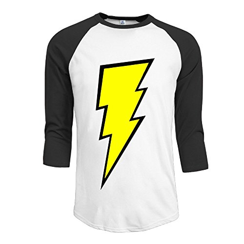 HSOAA Baseball Shirt Herren Men's The Flash 3/4 Sleeve 100% Cotton Baseball Tee/T Shirts -