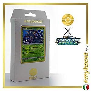 Dhelmise 22/168 Holo Reverse - #myboost X Sole E Luna 7 Tempesta Astrale - Box de 10 cartas Pokémon Italiano