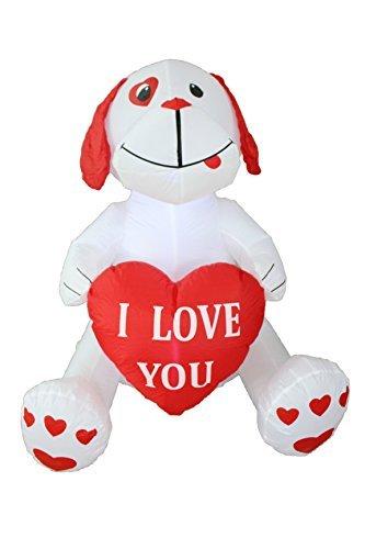 uppy Dog, Great für Jahrestag, Hochzeit und Valentinstag Party Dekoration (Aufblasbare Outdoor-halloween-dekoration)