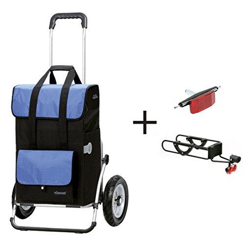 SparSet: Andersen Einkaufstrolly Royal XXL Luftreifen & Fahrrad Anhängerkupplung für Gepäckträger | Einkaufstasche Vektor