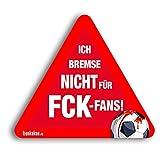 Kfz-AufkleberIch bremse nicht für Kaiserslautern-Fans | Für mehr Spaß im Verkehr für alle Mainz 05-, Vfb Stuttgart-, KSC- & Fußball-Fans | Vereinsaufkleber - Lustiger Auto-Aufkleber - Witziger KFZ-S