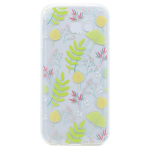Qiaogle Telefon Case - Weiche TPU Case Silikon Schutzhülle Cover für Apple iPhone 6 Plus / iPhone 6S Plus (5.5 Zoll) - XX34 / Traumfänger XX30 / Grün Blätter