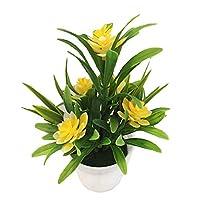 pushfocourag Artificial Plants Artificial Fake Lotus Flower Potted Plant Bonsai Wedding Party Garden Home Decor