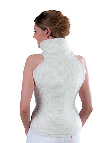 bosotherm 1300 Nacken-Rücken-Heizkissen / Wärmekissen aus Microfleece zur Entspannung mit abnehmbarer Zuleitung und Abschaltautomatik / Maße: 62 x 42 cm