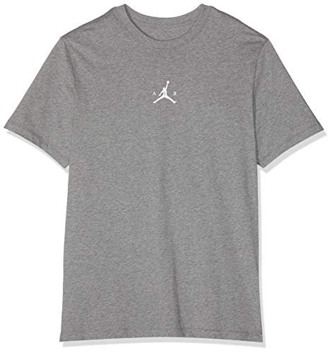 Nike Herren M JBSK Tee SP19 Photo GX1 T-Shirt, Carbon Heather/White, L -