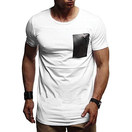 Retro T-Shirts Sport T-Shirt Slim Fit T-Shirts grundlegendes T-Shirt XXL T-Shirts Hemdgeschäftsradfahrer-T-Shirts Armee-T-Shirt T-Shirt kaufen T-Shirt Logo-T-Shirt sprüche Supermann-T-Shirt(Weiß,XXL)