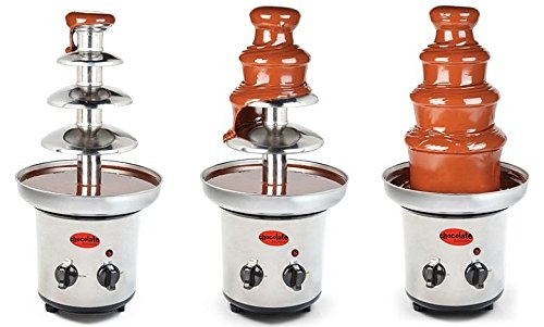Edelstahl Schokobrunnen für 900g Schokolade, 250 Watt mit Schneckengetriebe