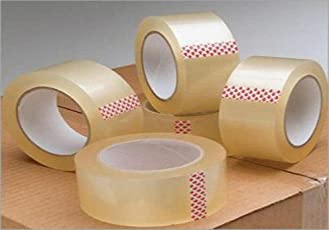 Reliable Agencies Transparent BOPP Tape (Pack of 6)