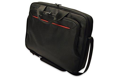 ednet Notebook Tasche für 15,6″ Laptops, mit Trolley-Halter, Super-Faser, Nylon, schwarz