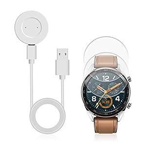 AIEVE Cable de Cargador para Huawei Watch GT, Base de Acoplamiento del Cable del Cargador de Repuesto con Protector de… 4
