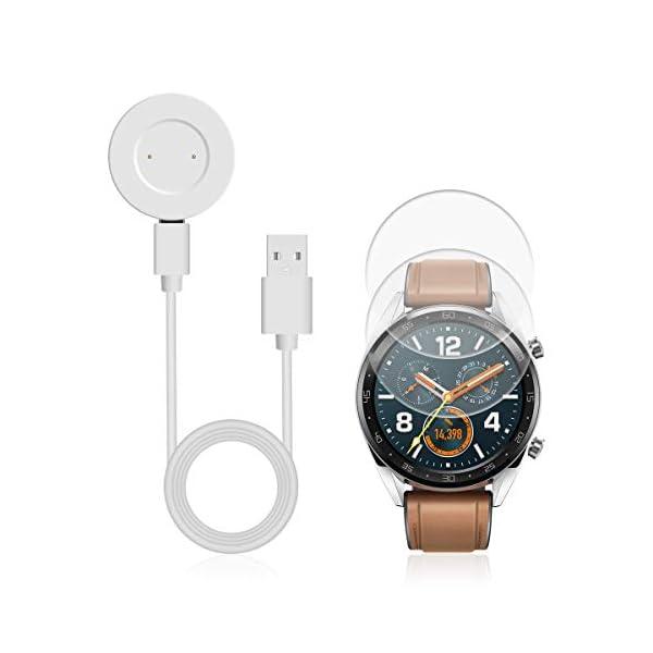 AIEVE Cable de Cargador para Huawei Watch GT, Base de Acoplamiento del Cable del Cargador de Repuesto con Protector de… 1