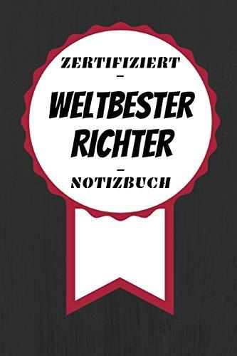 iert - Weltbester - Richter: Kreatives Tagebuch | A5 Format | Coole Geschenkidee | Liniert ()