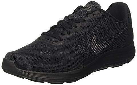 Nike Revolution 3 Herren Turnschuhe, Schwarz (Black / Metallic Dark Grey / Anthracite), 46 EU