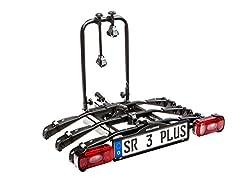 Bullwing SR3 Plus Fahrradträger für Anhängerkupplung, 3 Fahrräder, Nutzlast 60 Kg, Heckträger inkl. Wandhalterung, Rahmenhalter, Schnellverschluss, abklappbar, robuste Stahlkontruktion