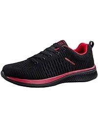 FOANA Zapatillas Deportivas Ligeras, cómodas y Transpirables, para Caminar, para Hombres