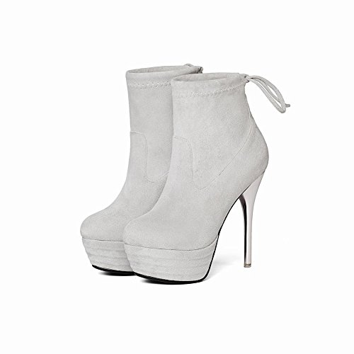MissSaSa Donna Scarpe col Tacco Alto High-Heels Elegante e Moda Grigio