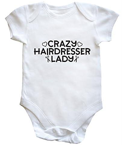 HippoWarehouse Crazy hairdresser lady baby vest boys girls
