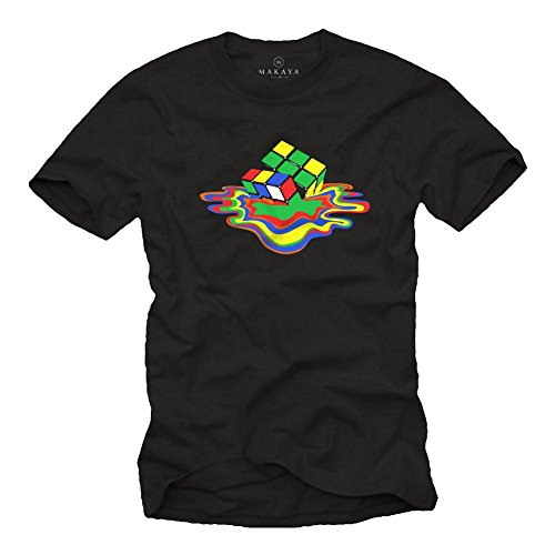 MAGLIETTA RUBIK - T-shirt Sheldon uomo - Big Bang Theory nera XL