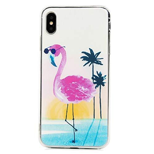 Mlorras iPhone XS Max Hülle, Ultradünnen Weich Flexibel Silikon TPU Schutzhülle Bumper Anti-Kratzer Stoßfest Smartphone Handyhülle Abdeckung Case Cover Perfekte Passform für Gläser Flamingo