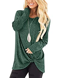 619c125db25 Xpenyo Women s Long Sleeve Tops Twisted Sweatshirt Loose T Shirt Blouses  Tunic Tops