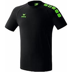 erima - Camiseta para hombre, tamaño 164 UK, color negro / verde