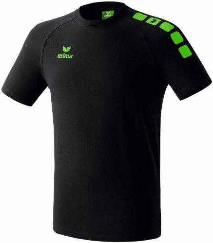 erima Uni T-Shirt 5-Cubes Promo, schwarz/green, XXL, 608200