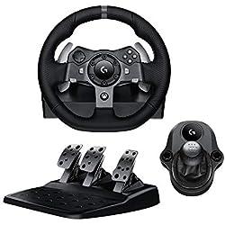 Pack Logitech Volant G920 + pédalier pour Xbox One / PC + levier de vitesse Driving Force Shifter