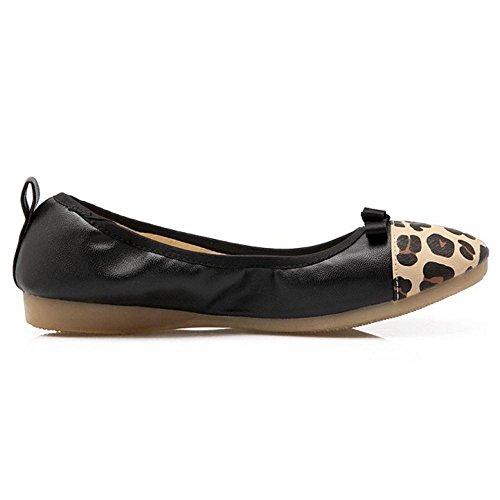 TAOFFEN Donna Morbidi Mocassini Scarpe Black
