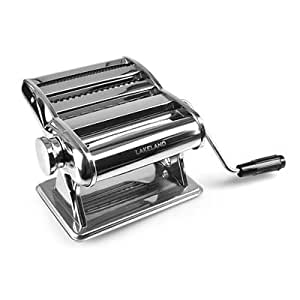 Lakeland Silver Pasta Making Machine - Make Lasagne, Fettuccine or Tagliatelle