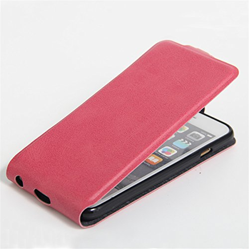 iPhone 6 Hülle Case,iPhone 6S Hülle Case,Gift_Source [Photo Card Slot] [Stand Feature] Elegant Up-Down Open Magnetic Snap Hülle Case Premium PU Leder Hülle Case Flip Hülle Case Cover für iPhone 6s / 6 E01-06-Rose160614