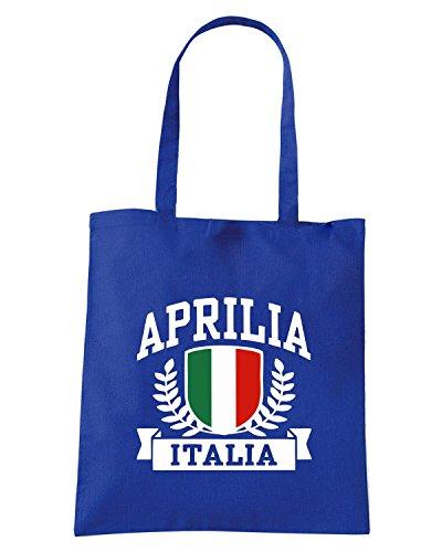 T-Shirtshock - Borsa Shopping TSTEM0264 aprilia italia tshirt Blu Royal