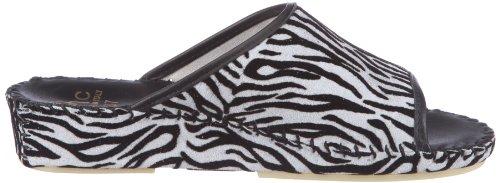Hans Herrmann Collection 021636-10, Sabot donna Nero (Schwarz (Zebra))