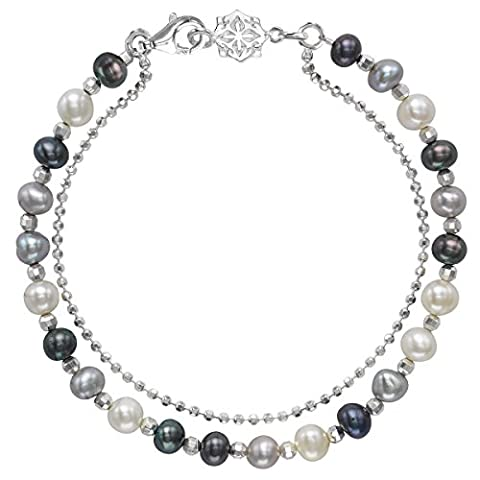 Dower & Hall Orissa Sterling Silver Mixed Freshwater Pearl Bead