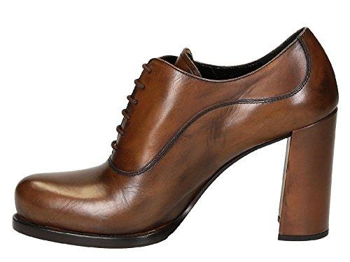 Chaussures à talon haute Prada en Cuir veau Brandy - Code modèle: 1T156G 3M0L F0134 Brandy