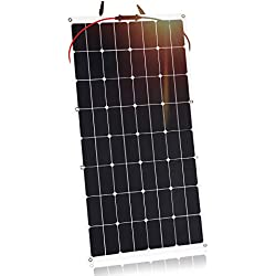 Kingsolar 100W Durable ETFE Semi Flexible Solar Panel Battery Charger for car,boat,caravan etc