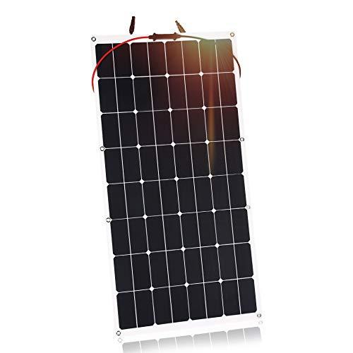 Kingsolar 100W Durable ETFE Semi Flexibles Solarladegerät für Auto, Boot, Wohnmobil, Wohnwagenbatterie