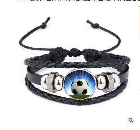 Hemore Football Bracelet - Braided Rope Bracelet - Soccer Wristband for Men and Women 2018 World Cup
