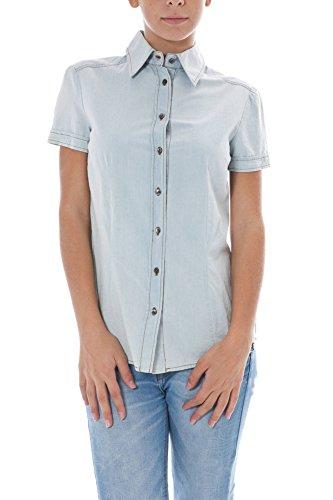 John galliano 34 xr6637 70643 1xl5 camicia maniche corte donna azzurro 700 40