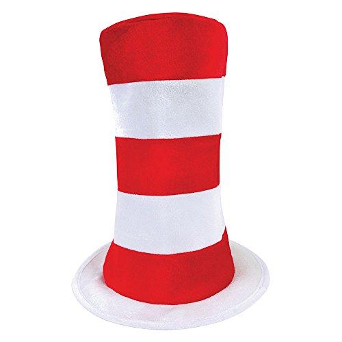 Bristol Novelty bh597Erwachsene gestreift Top Hat, mehrfarbig, one -