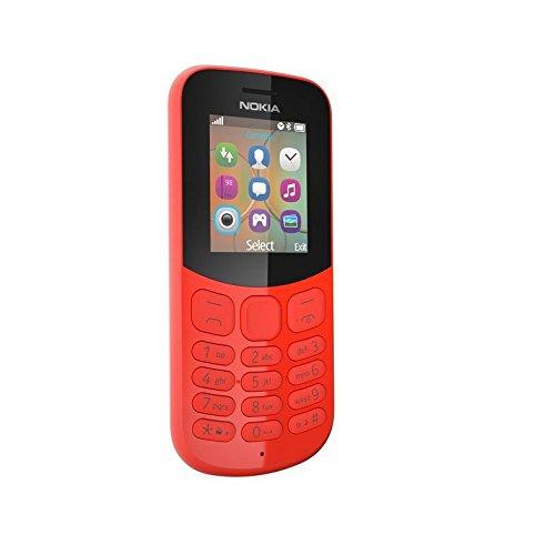 nokia 130 2017 telefono cellulare, 8 gb, rosso