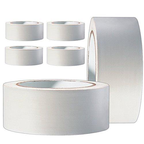 6 Rollen Profi PVC Putzband 33m glatt 50mm weiß Bautenschutzband Schutzband Klebeband