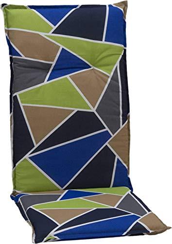 beo Chaises Coussin avec Bordure pour Fauteuil à Dossier Haut Design Graphique Multicolore Env. 118 x 48 x 6 cm