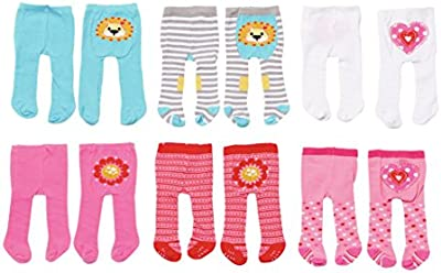 Dolly Moda Tights, 2 pack Doll tights - accesorios para muñecas (2 pack, Doll tights, 3 año(s), Multicolor, Chica, 2 pieza(s), 38 cm)