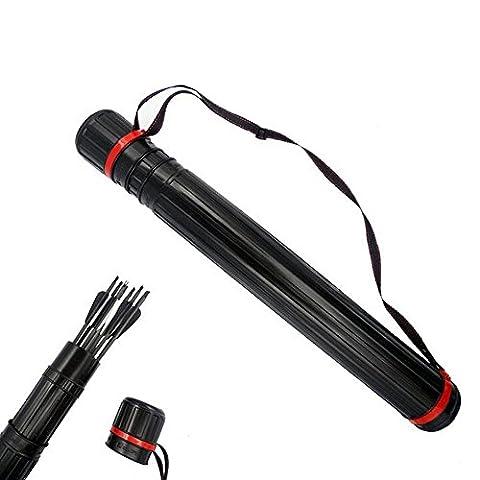 Chasse au tir à l'arc Carquois Tube de flèche Avec 63-105cm Longueur réglable