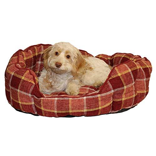 AB Tools Hundebett Zeit Glühwein prüfen Oval Bett Bettwäsche 76 x 52 cm (groß) -