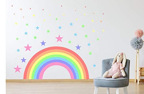 Kapowboom Graphics Pastel Rainbow & Stars wall sticker decal children