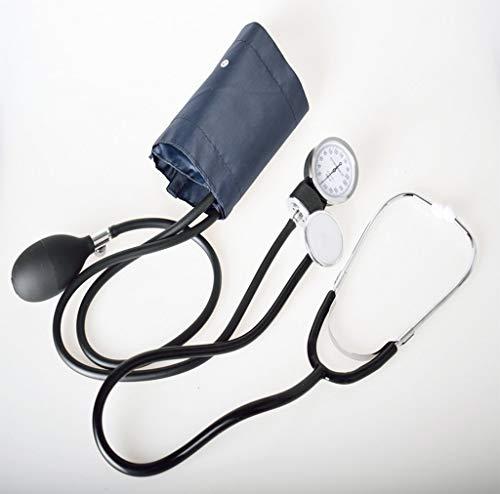SuRose Doppeltes Rohr-Doppelter Kopf-Stethoskop-Blutdruck-Bügel-Kopfhörer-Zink-Legierungs-Medizinischer Arm-Art Erwachsene Schwangere Frauen-Schwarzes