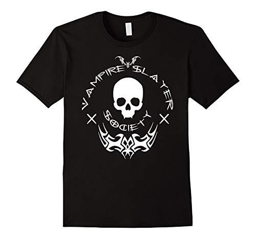 Fashion Men's T-Shirt The Vampire Slayer Society Halloween Vamp Hunter Shirt Men Cotton T Shirt Funny (Halloween Vampire Slayer)